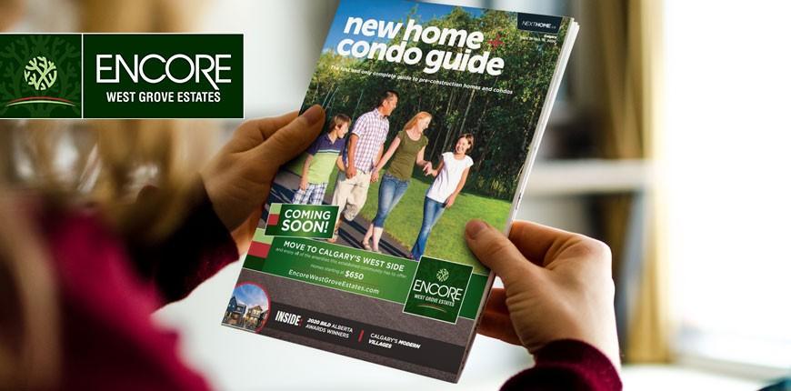 Encore West Grove Estates Featured Cover Story for Calgary New Home + Condo Guide